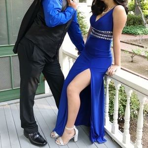 Simple Royal Blue Prom Dress